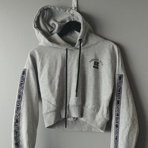Kendall & Kylie crop hoodie Gray size S